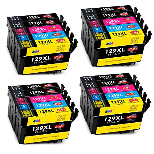 JIMIGO Ersatz für Epson T1291 T1292 T1293 T1294 T1295 Druckerpatronen Kompatibel mit Epson Workforce WF-3520, Epson Stylus SX435W SX235W SX525WD SX230 SX420W SX425W SX430W