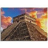LLLTONG Rompecabezas para Adultos 1000 Piezas Ruinas mayas en Cancún, México Juegos educativos, Rompecabezas para niños