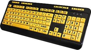 Adesso ADESSO EasyTouch 132 - Florescent Yellow Multimedia Desktop Keyboard/AKB-132UY /