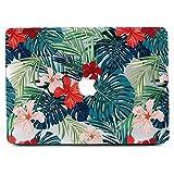 Funda MacBook Pro 15 2017 y 2016, L2W Matte Print Patrón Tropical de Las Hojas de Palma Funda para el más Nuevo Macbook Pro Nuevo 15 Pulgadas con Touch Bar (Modelo: A1990/A1707)