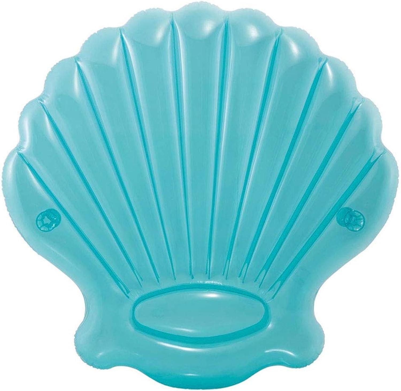 descuento online Giant azul Seashell Pool Float - - - Juguete Diverdeido para la Fiesta de natación para Niños - Summer Lounge Raft  compras de moda online