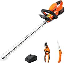Sponsored Ad – GARCARE Electric Hedge Trimmer Cordless, 20V 4.0A Cordless Hedge Trimmers with Battery and Charger Lightwei...