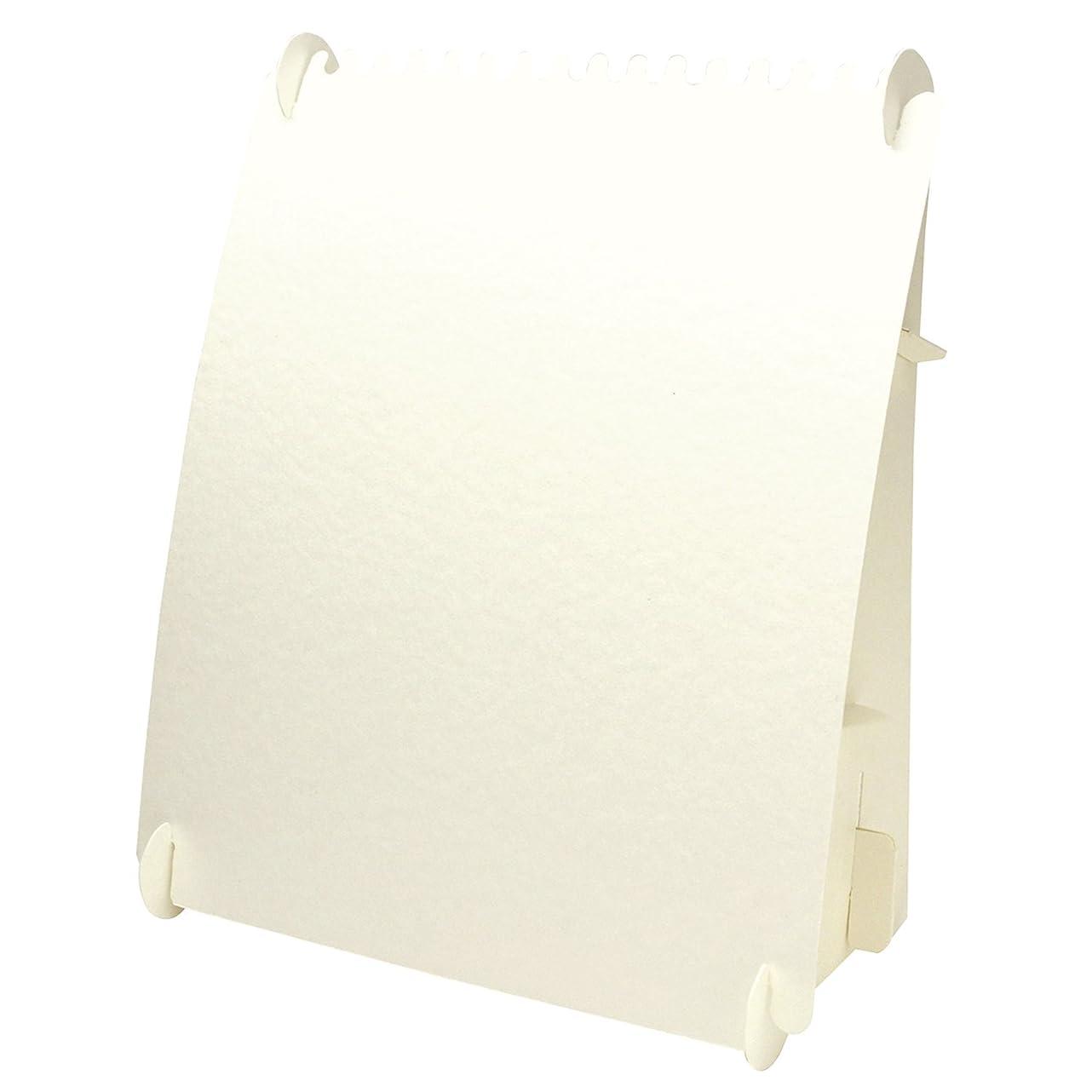 うまくいけばペネロペ呼ぶタカ印 ディスプレイ 44-5815 オリジナルワークス ネックレスボード 組立式 2個 ホワイト