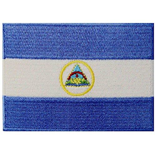 Bandera de Nicaragua Nicaragüense Parche Bordado de Aplicación con Plancha
