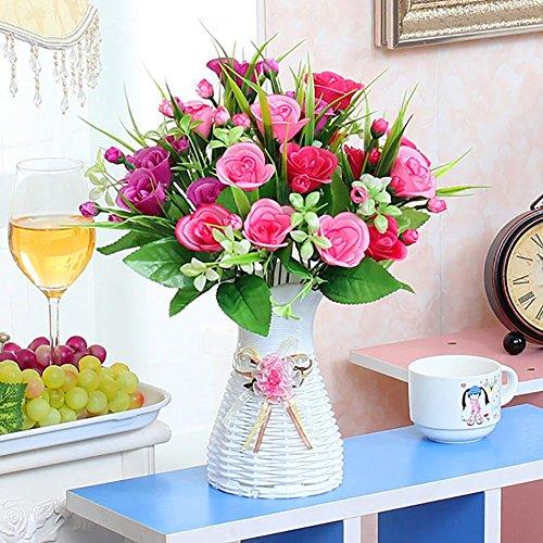 Fleurs Artificielles Fleur Plastique Fausse Fleur , Fleurs artificielles de Bouquets Fleur , Décoration pour Maison Mariage , Soie Bouquet Mariage pour fête de Jardin à la Maison Décor , #29