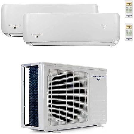 Innovair Air Conditioner Dual Zone Mini Split Heat Pump System 30,000 BTU 2 Zone 12,000 + 18,000 BTU