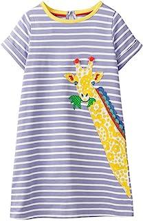 Little Girl Trends Spring Summer Casual Cotton Applique Tunic Dress Shirt