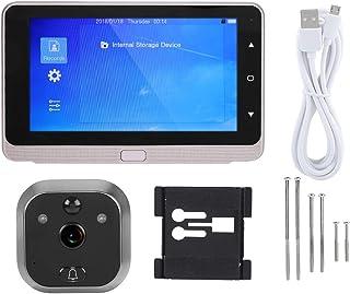 Mirilla digital pantalla OLED de 5 pulgadas timbre de vídeo Wi-Fi de 160 grados cámara gran angular compatible con tarjeta micro SD externa de 32 GB
