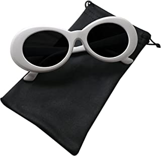نظارات نكاوت نظارات نظارات شمسية بيضاوية بنمط كولت كوبان (أبيض)