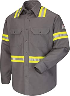 Bulwark FR Men's SLDT Flame Resistant Hi-Vis L/S Shirt