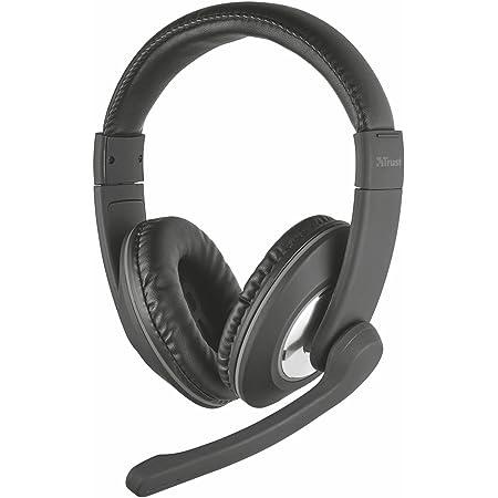 Trust Reno Cuffie Over-Ear con Controllo Volume Integrato e Microfono Regolabile, Nero