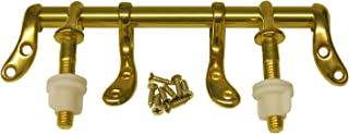 LASCO 14-1053 Toilet Seat Hinge Polished Brass Metal with Bolts and Nuts