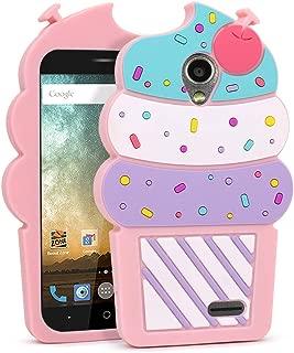 for ZTE Maven 2 Case, ZTE Prestige Case, ZTE Sonata 3 Case, ZTE Avid Plus Case, ZTE Avid Trio Case, 3D Cute Cartoon Cherry Cupcakes Ice Cream Soft Silicone Case Cover for ZTE Z828 Z831 Z832 N9132