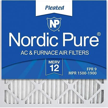 FilterBuy 24x25x1 MERV 13 Pleated AC Furnace Air Filter, Platinum Pack of 4 Filters 24x25x1