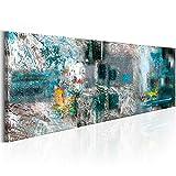 murando Cuadro en Lienzo Abstracto 135x45 cm 1 Parte impresión en Material Tejido no Tejido Cuadro de Pared impresión artística fotografía Imagen gráfica como Pintado Colorido a-A-0262-b-d