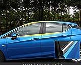 High Flying para Astra K 5 puertas 2016 – 2019 – Laterales de ventana, cromo molduras de acero inoxi...