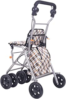 Shower Accessories Walker Shopping Basket Crutch Old Man Shopping Cart Trolley Foldable with Brake Give The Elderly The Best Gift Can Bear 80kg Black Buy Food Small Cart