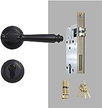 Deurslot Messing deurslot set licht luxe grijze interiror slaapkamer badkamer dubbele houten deur hendel set dummy handgre...