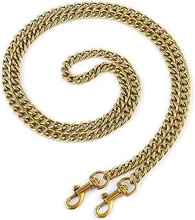 "OAikor Metal Flat Chain Strap Replacement for Purse Shoulder Bag Handbag Straps Accessories 47"" (Copper Gold)"