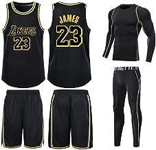 Lakers City Edition No. 23 James Jersey Basketball Suit Set Men Bryant No. 24 Jersey Classic Sleeveless Set Men (2XS-5XL)