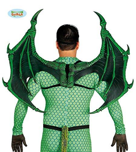 Luxus Grüner Drache Flügel 100 x 80 cm