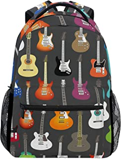 guitar and backpack