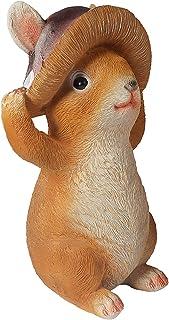 Trädgård kanin staty, DEECOZY harts hantverk kanin trädgårdsprydnader hängande dekor, för trädgård gård hem