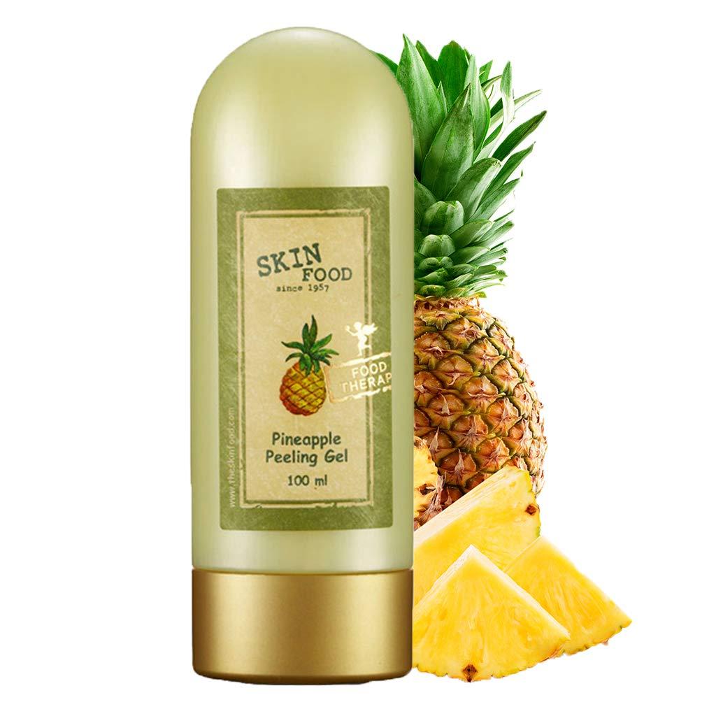 SKIN FOOD Pineapple Peeling Gel 3.38 fl.oz. (100ml) - Pineapple and Aloe Contained AHA Deep Facial Exfoliating Gel, Eliminates Sebum, Skin Clear and Blemish-Free