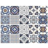 un brand Lvjkes Vinilo Decorativo Mosaico, 20 Piezas Azulejo Pegatinas, Etiquetas Autoadhesivas para...
