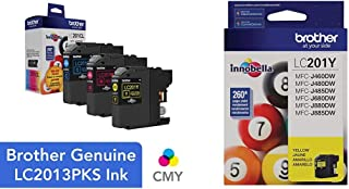 $27 » Brother Genuine Standard Yield Color Ink Cartridges, LC2013PKS, Magenta & Yellow, Page Yield Up to 260 Pages/Cartridge,Mag...