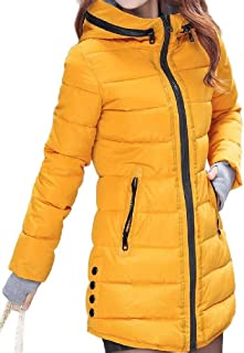 EnergyWD Womens Keeping Warm with Pocket Plus Size Casual Hooded Padded Coat
