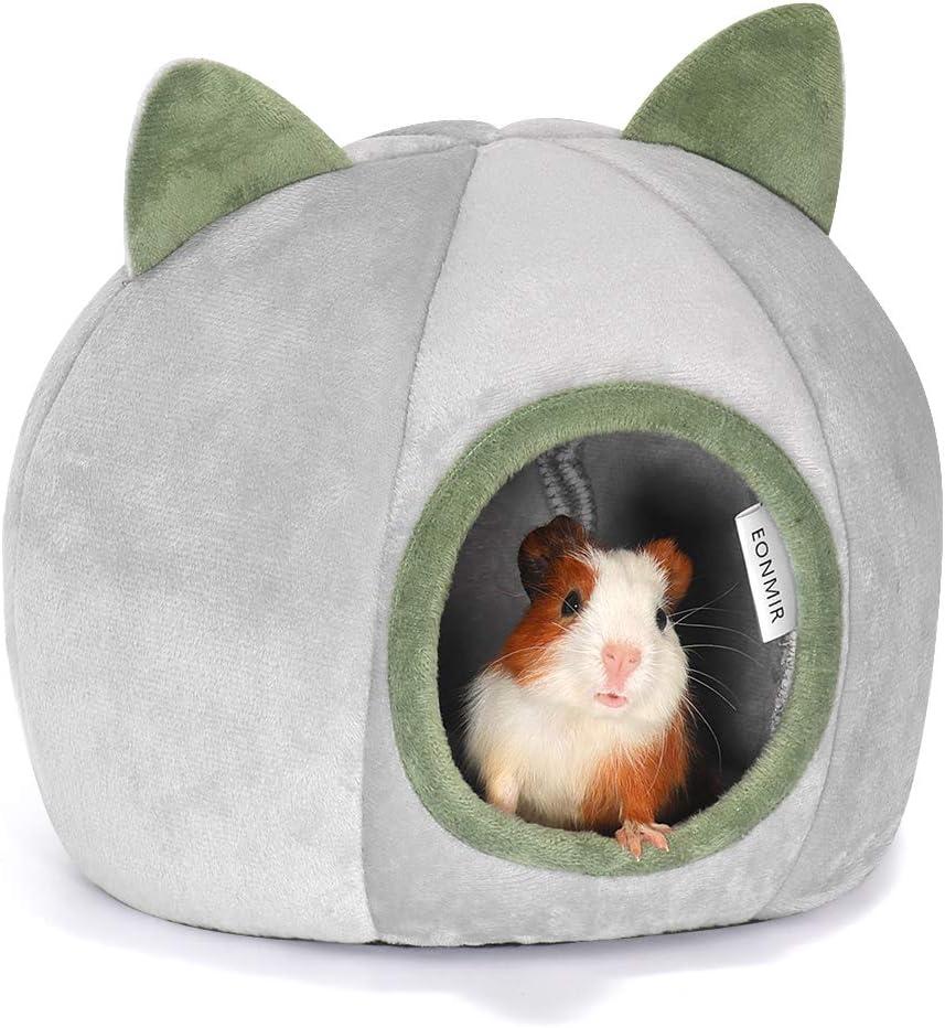 Cute Nest Cage Toys for Hedgehog Rat Chinchilla Squirrel Guinea Pig 17x17x15cm//inch ningdeCK Winter Warm Hamster Bed,Soft Plush Pet Cave Pet House,Machine Washable Cozy Hideout