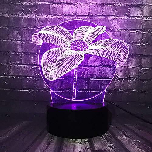 Led-huwelijkslamp 3D nachtlampje met romantische bloemblaadjes, leuk cadeau voor vakantie, 7 kleuren USB room waarschuwing mud nachtlicht friend fun met afstandsbediening USB