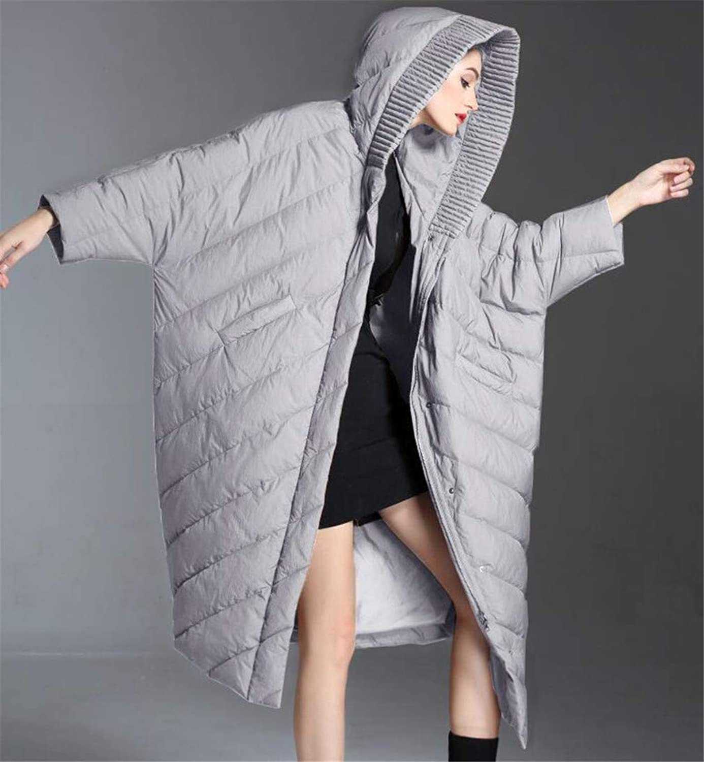 Women Down Coat Down, Europe and America Large Size Medium and Long Section Tricolor Hooded high Quality White Duck Down Padding Keep Warm Down Jacket
