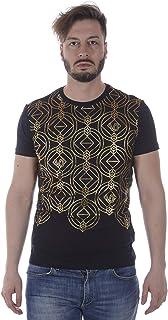 Men'S T-Shirt B3GRA77A Black Print 24 Slim MC