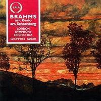 Johannes Brahms: Clarinet Sonatas Op.120 No.1 (orch. Berio) / Piano Quartet Op.25 (orch. Schoenberg) by London Symphony Orchestra