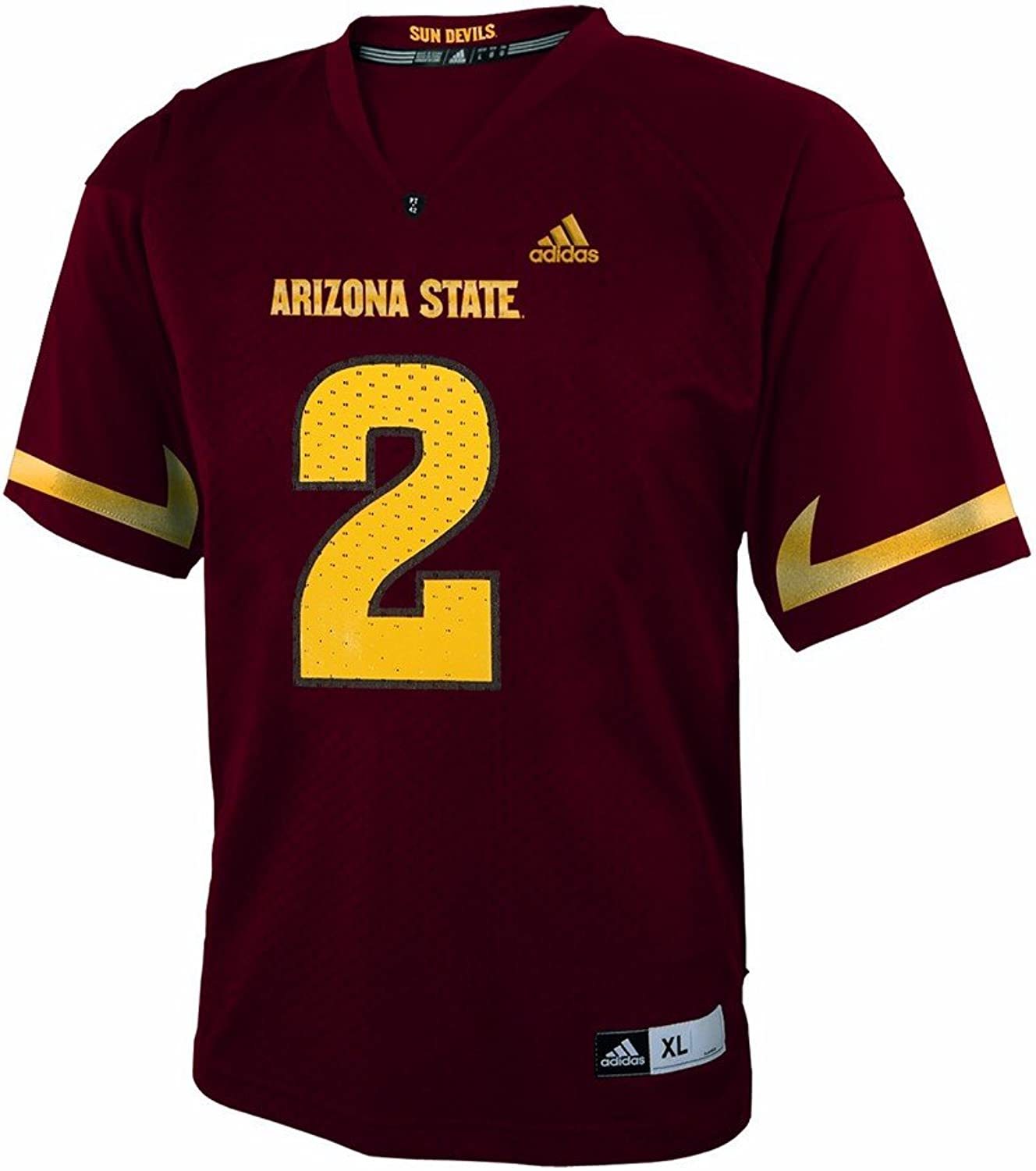 Adidas Arizona State Sun Devils NCAA Maroon Official Home  2 Replica Football Jersey for Infant