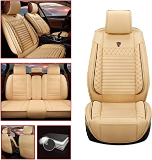 Car Seat Cover for Corolla Highlander Camry Aygo Avensis for Seat of Driving/Co-pilot/Second Row 5-SEAT Cream color