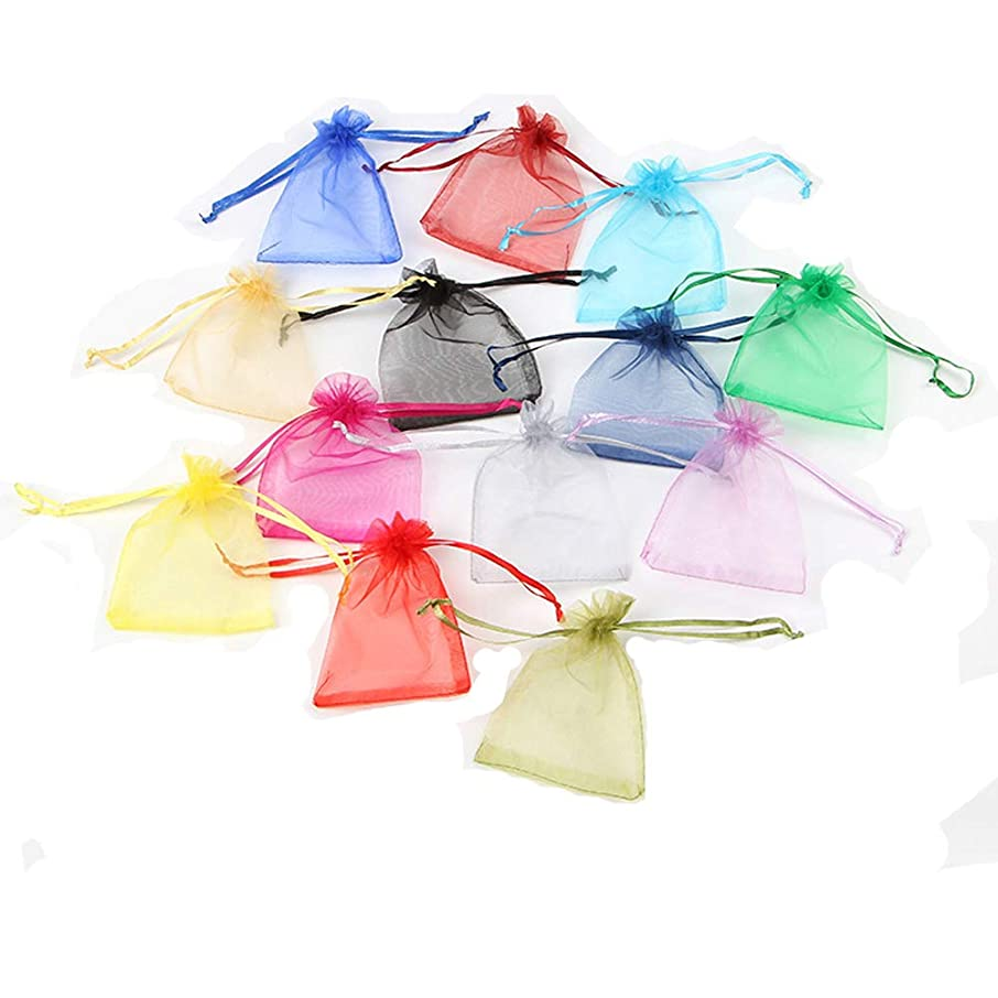 Organza Bags 100pcs 4x6 inch Sheer Organza Wedding Party Favor Gift Jewelry Beads Candy Pouch Bag with Drawstring