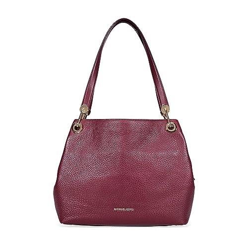 490d48a52ca562 Michael Kors Raven Large Pebbled Leather Shoulder Bag