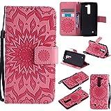 Lomogo [Flower Embossing LG G4C (H525N) Leather Wallet Case