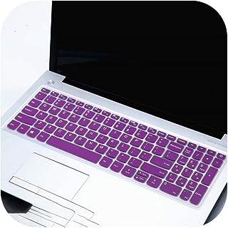 JPLJL キーボード カバー For Lenovo IdeaPad S145 15(15 amd)(15 Intel)15.6インチS145-15IWL s145-15ast s145-15 2019のラップトップキーボードカバースキン-whiteblue- ノートブックキーボードカバー 防水防塵カバー 超薄,紫の