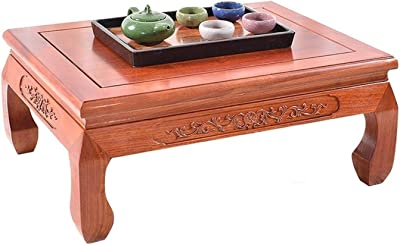 Table Small Solid Wood Coffee Table Rosewood Tiger Foot Bay Window Table Chinese Rosewood Tatami Coffee Table Square Table Tables (Color : Brown, Size : 60 * 45 * 25cm)