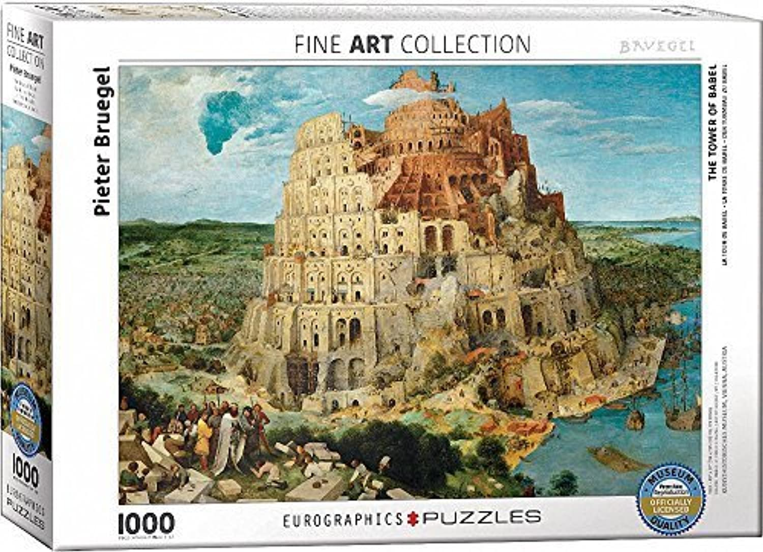 EuroGraphics The Tower of Babel by Pieter Brueghel (1000 Piece) Puzzle by EuroGraphics