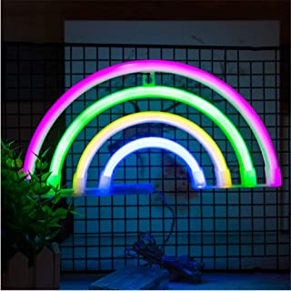 Decorative Rainbow Night Light,New Design Rainbow Neon Light,Light Weight-Peferct Gift for Birthday party,Baby shower,Kids...