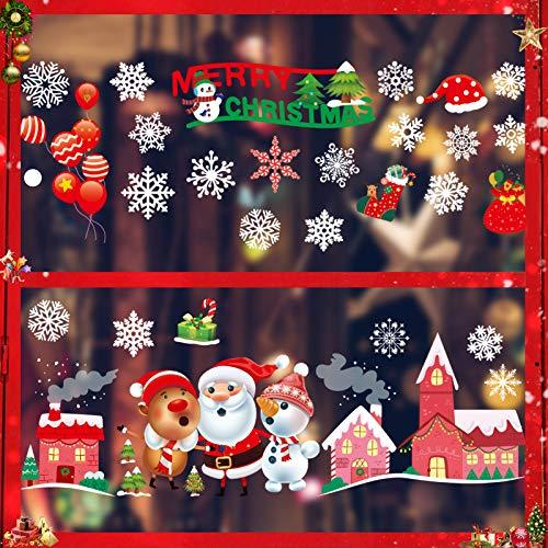 Pegatina de Ventana de Navidad, Pegatina de Copo de Nieve, Adhesivo de Invierno de Nieve, Pegatina Copo de Nieve, Pegatina Copo de la Navidad, Pegatinas de Copo, Nieve Calcomanías de Ventana (2)