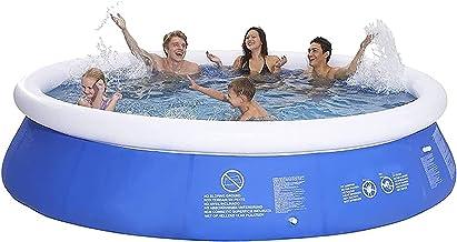 ZFAYFMA Piscina Inflable Grande, bañera Plegable de Verano para niños, Fiesta de Agua, Parque acuático Desmontable al Aire Libre con Bomba de Aire eléctrico
