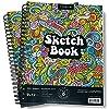 スケッチブックとドローイングパッド プレミアムドローイングペーパーブック 2冊 スパイラルノートパッド アーティストとアート用