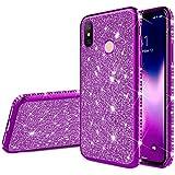 Robinsoni Xiaomi Mi 8 Se Coque Glitter de, Coque Silicone Glitter Sparkle Paillette Strass Brillante...