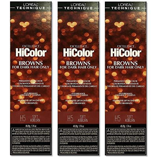 L'Oreal Excellence HiColor H5 Soft Auburn Permanent Tint HC-05111 (3...